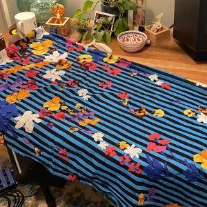 New! Zara scarf beautiful blue floral scarf NWT